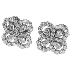 Harry Winston Platinum Loop by HW Full Motif Studs Earrings Medium