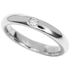 Harry Winston Platinum Round Diamond Marriage Ring