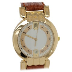 Harry Winston Premier 18 Karat Gold with Folding Clasp, Model MQ 34 GL Classic