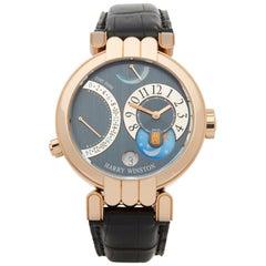 Harry Winston Premier Excenter Time Zone 0 200-MMTZ39R Unisex Rose Gold 0 Watch