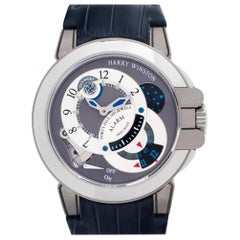Harry Winston Project Z 400/MMAC44WZ Zalium Silver Dial Manual Watch