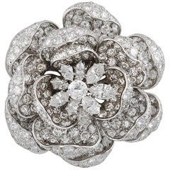 "Harry Winston ""Rose of England"" Diamond Brooch"