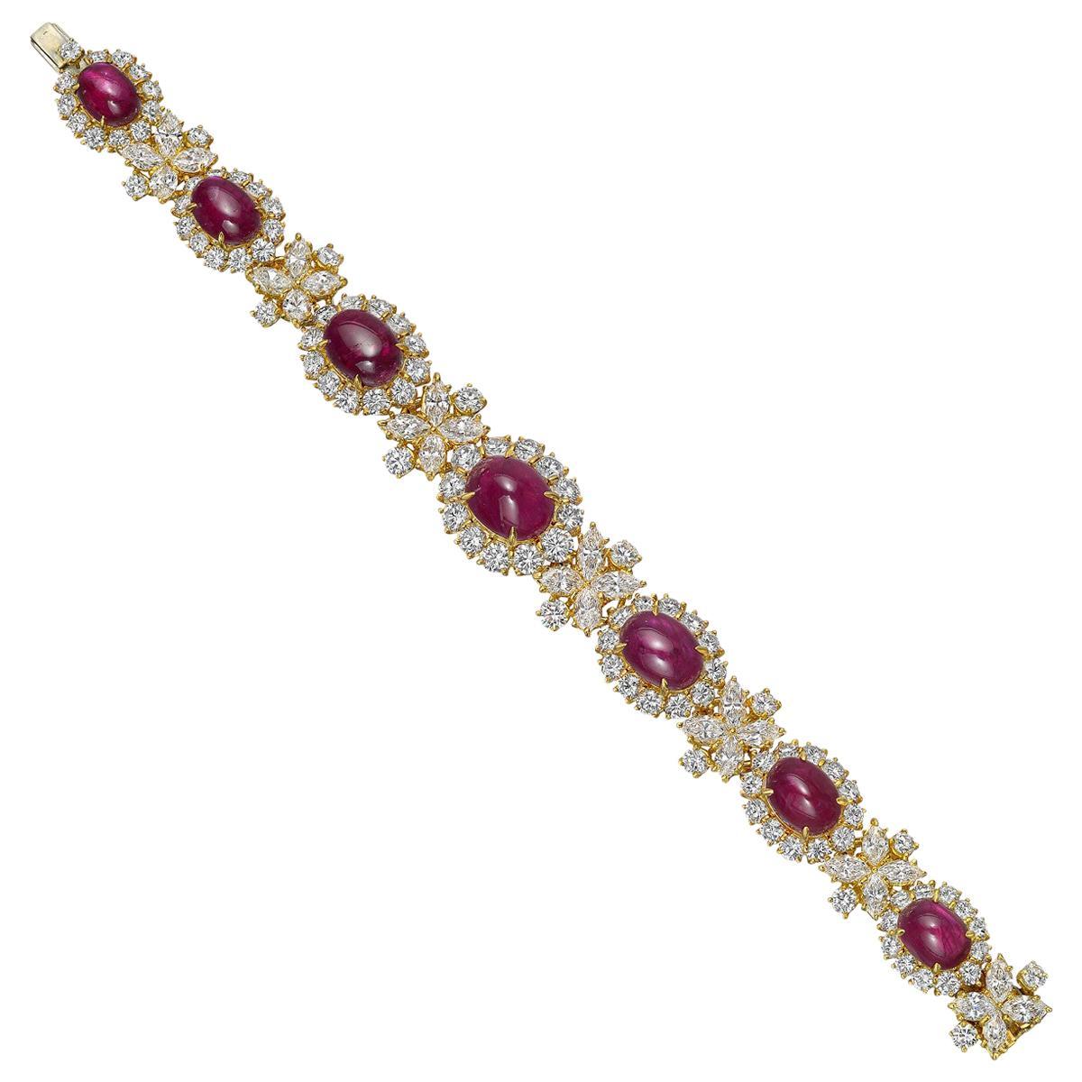 Winston Cluster Diamond Bracelet