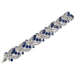 Harry Winston Sapphire Diamond Articulated Bracelet