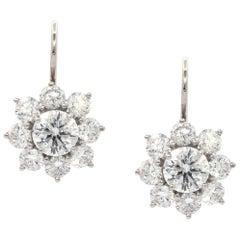 Harry Winston Sunflower Diamond Earrings