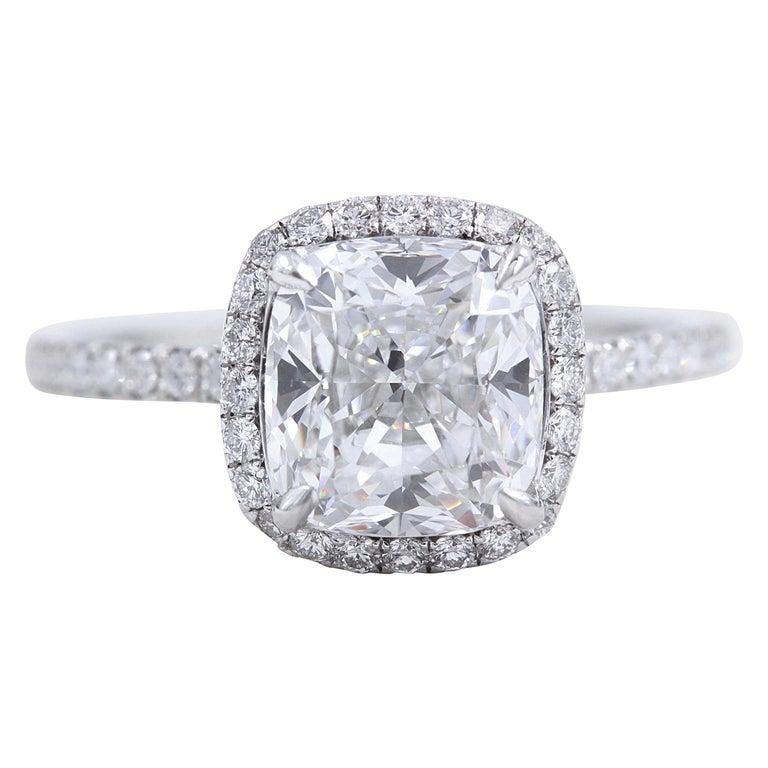 Harry Winston The One Cushion Diamond Ring 2 55 Carat E Vvs1 Platinum At 1stdibs