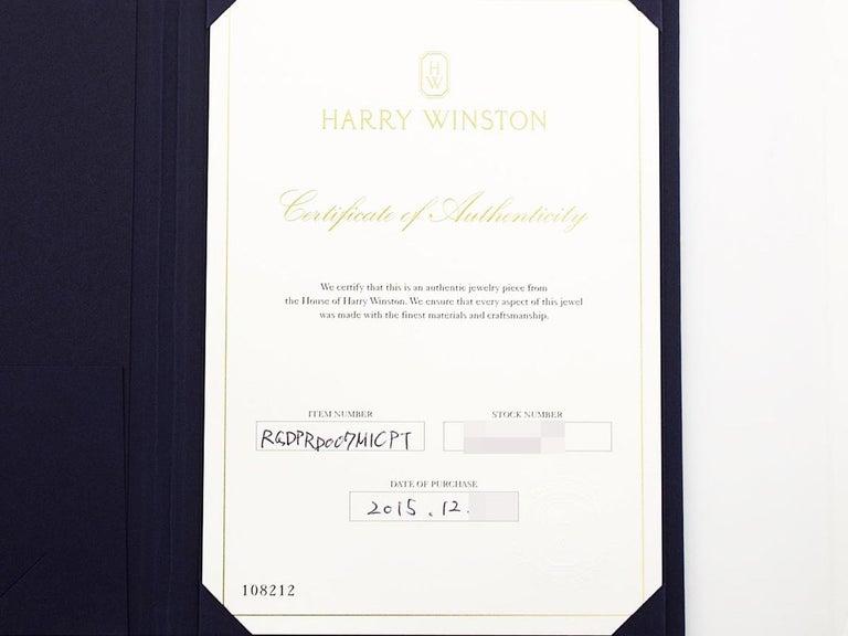 Harry Winston the One Round Brilliant Diamond Micropavé Platinum Ring US 4.25 For Sale 9