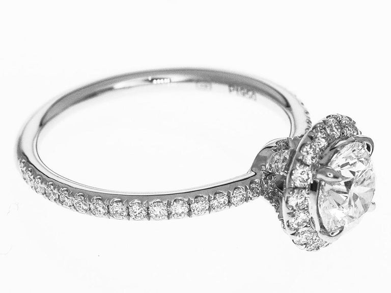 Harry Winston the One Round Brilliant Diamond Micropavé Platinum Ring US 4.25 For Sale 2