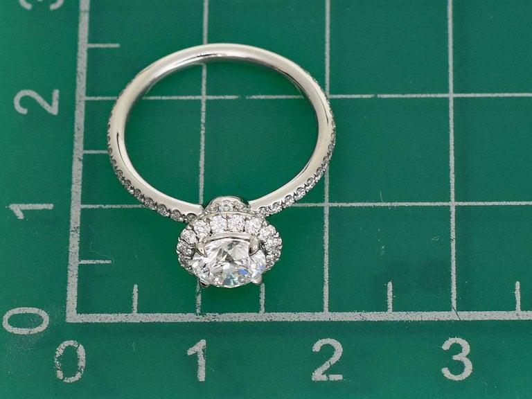 Harry Winston the One Round Brilliant Diamond Micropavé Platinum Ring US 4.25 For Sale 4