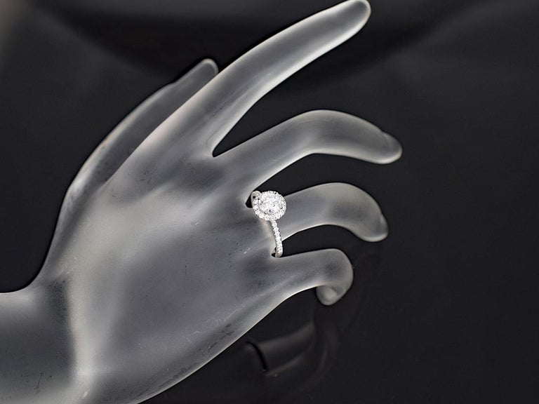 Harry Winston the One Round Brilliant Diamond Micropavé Platinum Ring US 4.25 For Sale 5