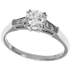 Harry Winston Tryst 0.71 Carat Round Brilliant Diamond Engagement Ring