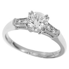 Harry Winston Tryst Round 0.70 Carat Diamond Platinum Solitaire Ring, US