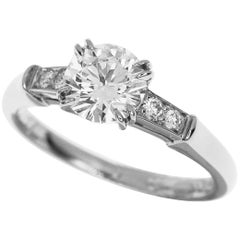 Harry Winston Tryst Round Brilliant 0.71 Carat Diamond Platinum Engagement Ring