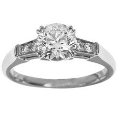 Harry Winston Tryst Round Brilliant 0.80 Carat Diamond Solitaire Platinum Ring