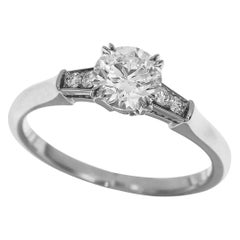Harry Winston Tryst Round Brilliant 0.85 Diamond Plat Engagement Solitaire Ring