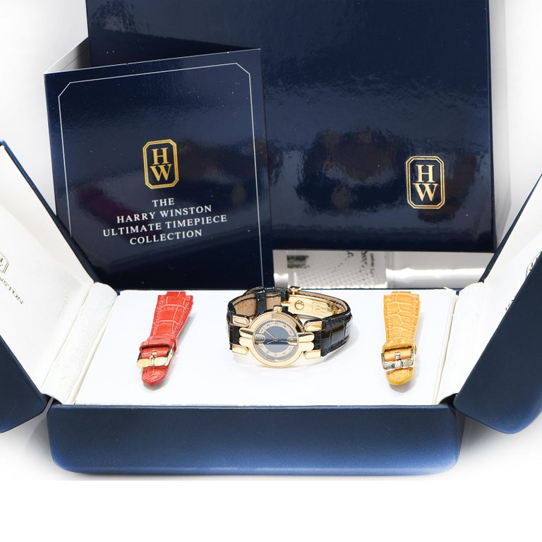 Women's Harry Winston Vintage Never Been Worn Lady's Premier 18 Karat Yellow Gold Watch For Sale