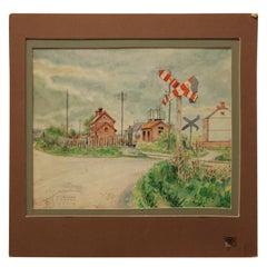 """""""Sissonne France"""" Watercolor Naturalistic Landscape Painting"""