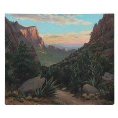 Untitled Naturalistic Desert Landscape Painting