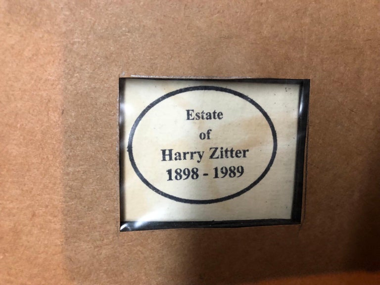 Harry Zitter  (1898 - 1989)  Harry Zitter was active/lived in New York.  Harry Zitter is known for street scene, subway scenes, social realist, nudes, African American, genre scenes, judaica, Coney Island arcade and figure. WPA artist. Part of a
