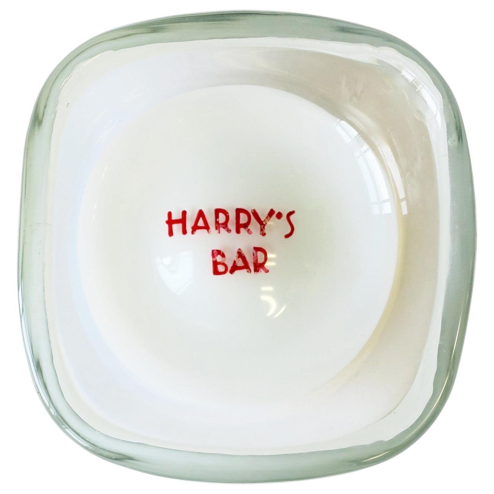 Harry's Bar Italian Murano Art Glass Bowl