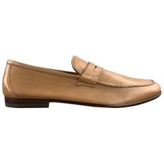 HARRYS OF LONDON Size 11.5 Tan Leather Slip On Loafers