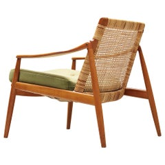 Listing for J. : Pair of Hartmut Lohmeyer Armchairs in Teak and Cane