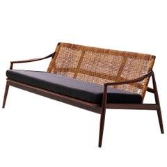 Hartmut Lohmeyer Three-Seat Sofa with Rattan