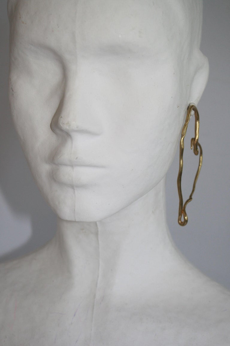 Women's Harumi Klossowska de Rola for Goossens Paris Heart Snake Earrings