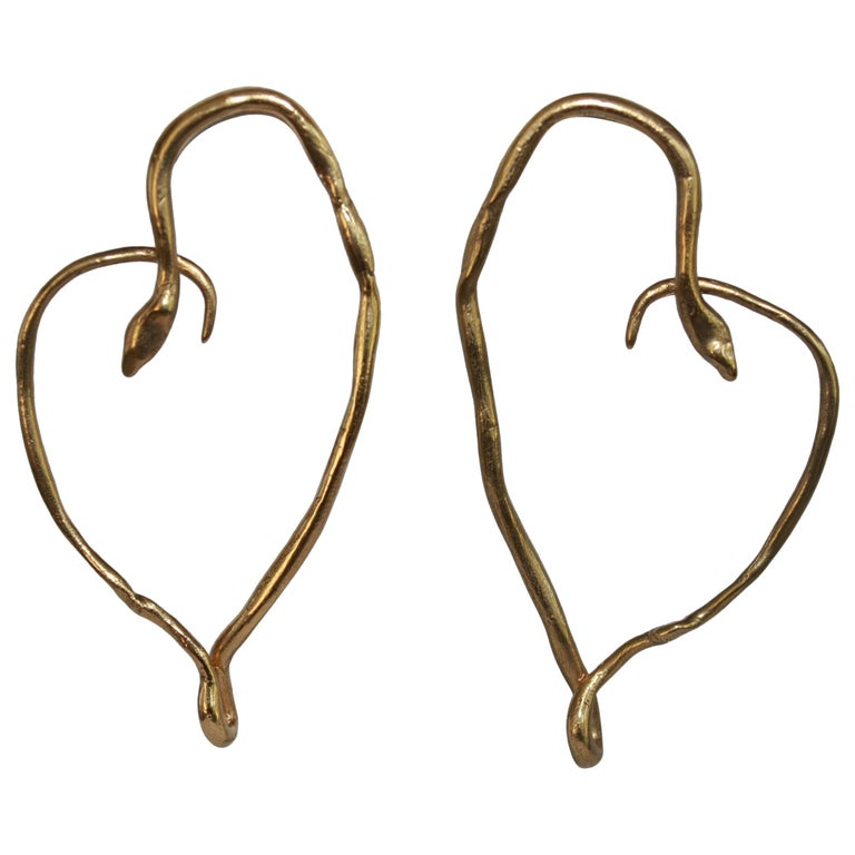 Harumi Klossowska de Rola for Goossens Paris Heart Snake Earrings