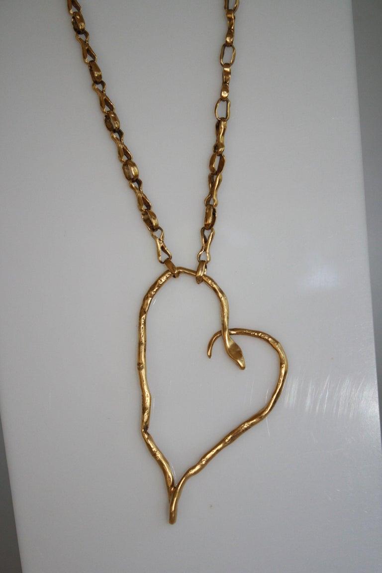 Women's Harumi Klossowska de Rola for Goossens Paris Heart Snake Necklace For Sale
