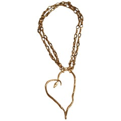 Harumi Klossowska de Rola for Goossens Paris Heart Snake Necklace