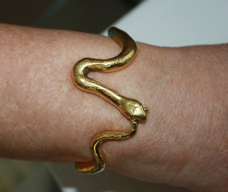 Snake motif bracelet - part of a limited edition collaboration between Harumi Klossowska de Rolaheart and the House of Goossens Paris.   The NY Times recently wrote an article entitled