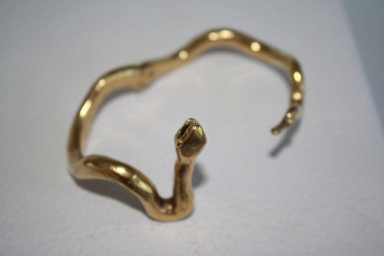 Harumi Klossowska de Rola for Goossens Paris Snake Bracelet For Sale 1