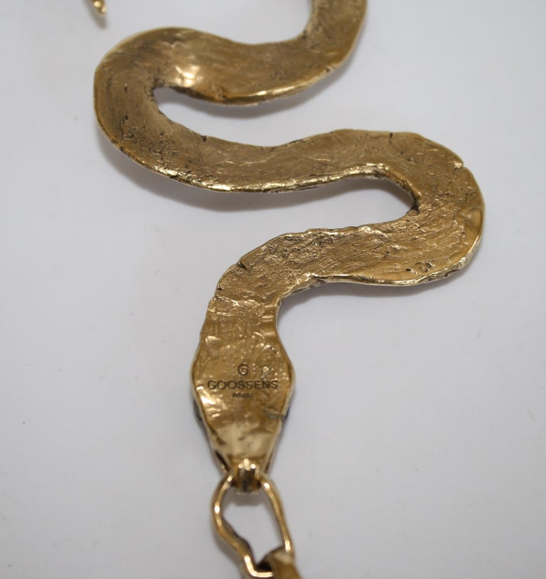 Harumi Klossowska de Rola for Goossens Paris Snake Necklace In New Condition For Sale In Virginia Beach, VA