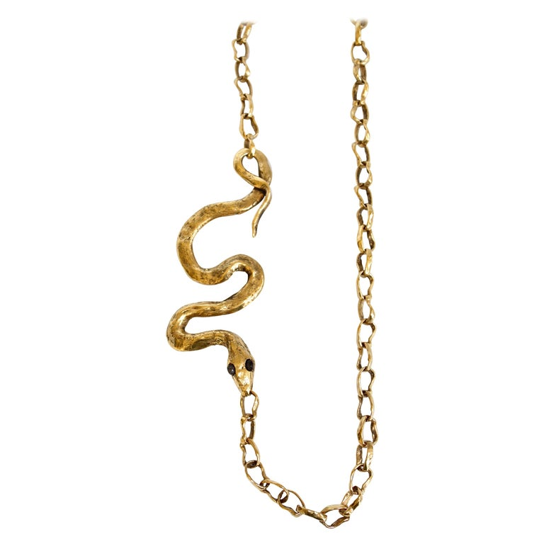 Harumi Klossowska de Rola for Goossens Paris Snake Necklace For Sale