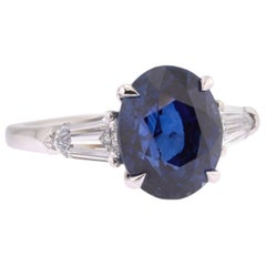 Haruni One-Off 5.29 Carat Royal Blue Sapphire, White Diamonds and Platinum Ring