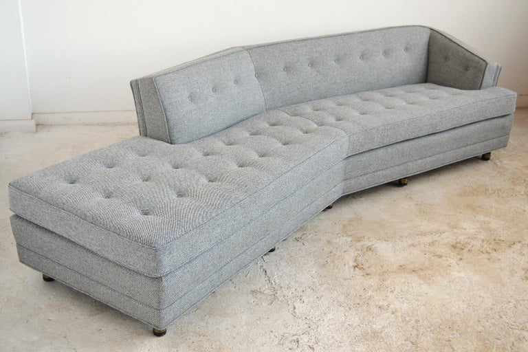 Mid-20th Century Harvery Probber Large Angled One-Arm Sofa For Sale