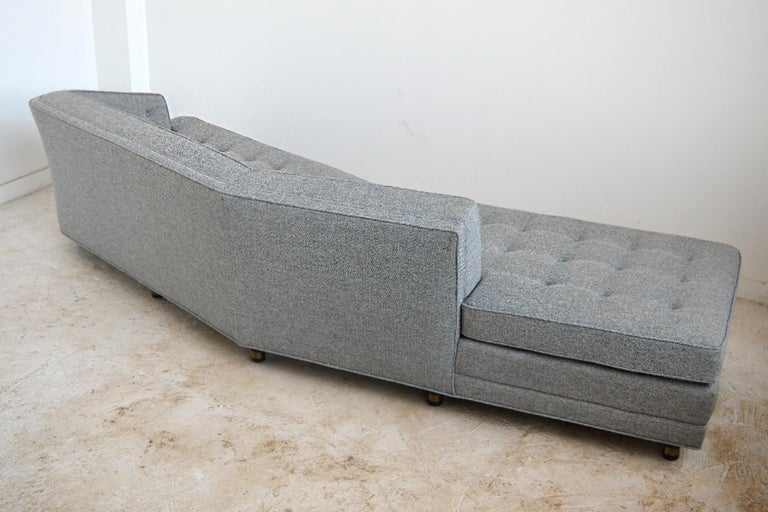 Upholstery Harvery Probber Large Angled One-Arm Sofa For Sale