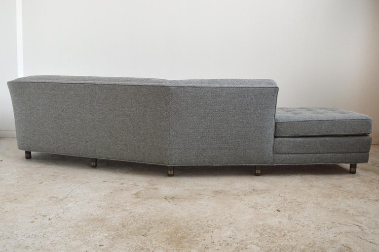 Harvery Probber Large Angled One-Arm Sofa For Sale 2