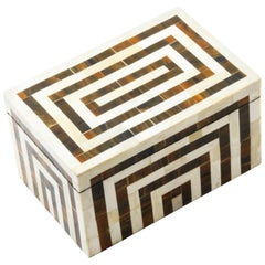 Harvey Box in Ivory and Brown by Curatedkravet