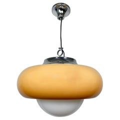 Harvey Guzzini Meblo Chandelier Lamp, Italy, 1970s