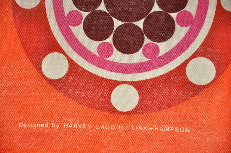 Women's or Men's Harvey Lago for Link - Hampson Vivid Tangerine Irish Linen Tablecloth For Sale