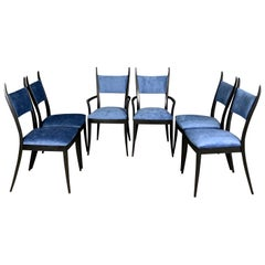 "Harvey Probber 1048 ""Gazelle"" Dining Chairs Set of Six Midcentury"