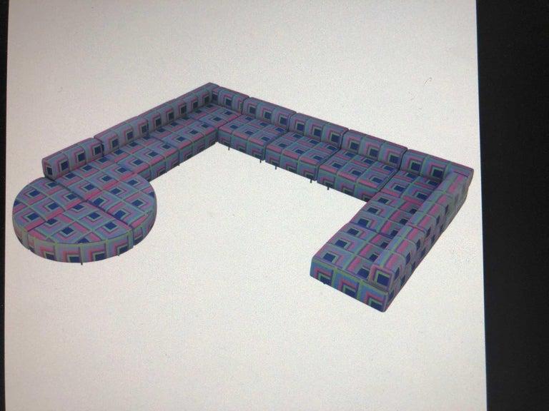Harvey Probber 11 Piece Cubo Modular Sofa For Sale 3