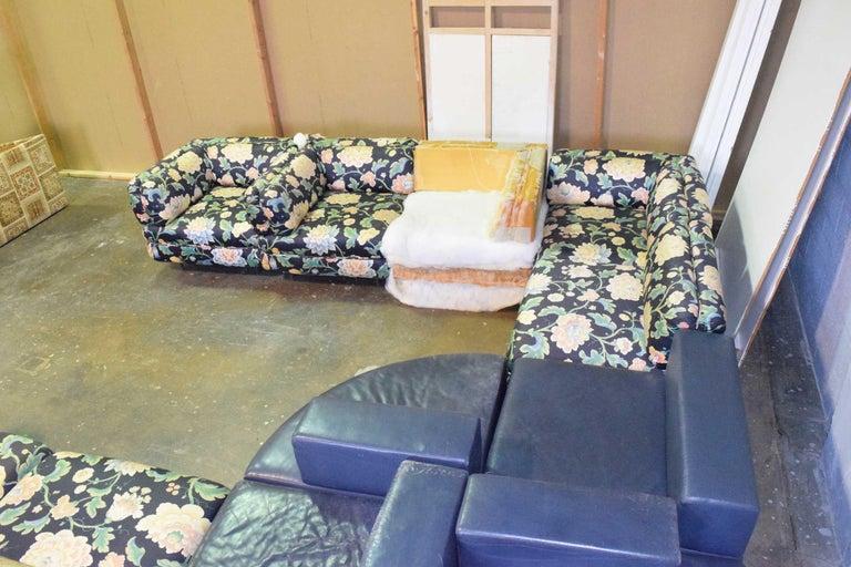 Harvey Probber 11 Piece Cubo Modular Sofa In Distressed Condition For Sale In Dallas, TX