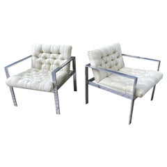 Harvey Probber Aluminum Lounge Chairs, Sold as a Pair