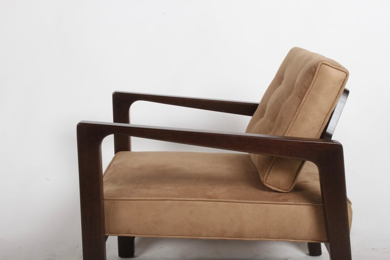 Suede Harvey Probber Asymmetrical Lounge Chair For Sale