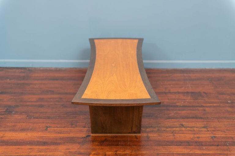 Brass Harvey Probber Bow Tie Coffee Table For Sale