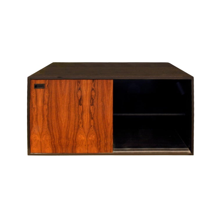 Harvey Probber Cabinet In Mahogany With Rosewood Doors