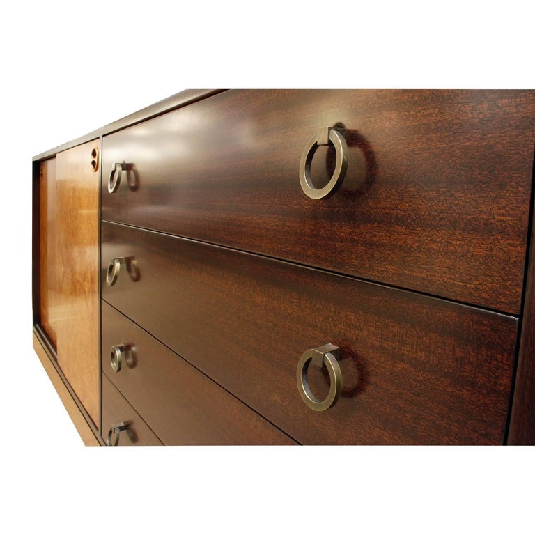 Harvey Probber Credenza with Carpathian Elm Doors and Base 1950s 'Signed' For Sale 1